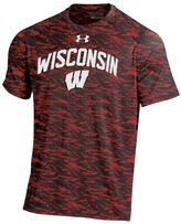 Under Armour Men's Wisconsin Badgers Tech Novelty Tee