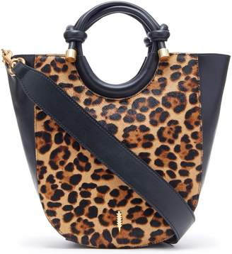 THACKER Convertible Haircalf Leopard Tote - Claire
