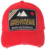 DSQUARED2 Brothers Patch Canvas Baseball Hat