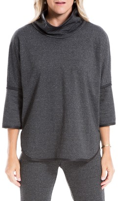 Max Studio Funnel Neck 3/4 Sleeve Double Knit Top