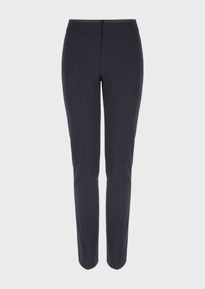 Emporio Armani Stretch Textured-Wool Trousers