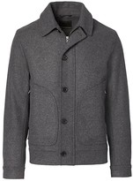 Banana Republic Italian Melton Wool-Blend Short Zip Jacket
