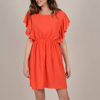 Molly Bracken Short Ruffled Sleeved Dress with Elasticated Waist