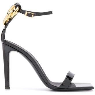 Giuseppe Zanotti Square Toe Ring Sandals