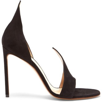 Francesco Russo Flame Open-toe Suede Sandals - Black