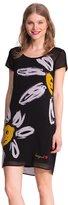 Desigual Women's Knitted Dress Short Sleeve