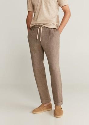 MANGO MAN - 100% linen trousers ecru - 28 - Men