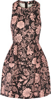 Jill Stuart Aydan floral-print cotton and linen-blend mini dress