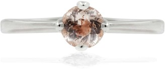 Lee Renee Morganite Petal Ring - Silver