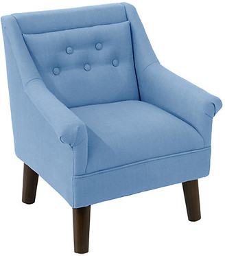 One Kings Lane Bella Kids' Accent Chair - French Blue Linen