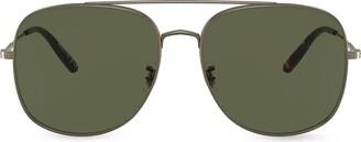 Oliver Peoples Square Aviator Sunglasses