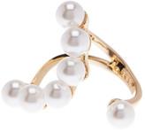 Rebecca Minkoff Open Faux Pearl Ring - Size 7