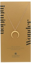 Dogeared Intuition/Wonder Large Crescent Moon Necklace Necklace