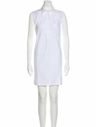 Saint Laurent Mini Dress White