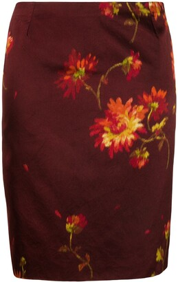 Dolce & Gabbana Pre-Owned Floral Print Pencil Skirt