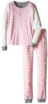 Hatley Metallic Hearts Henley Pajama Set (Toddler/Little Kids/Big Kids)