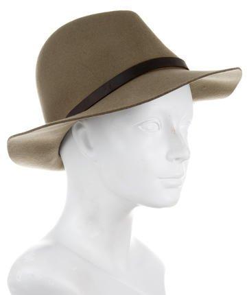 Rag & Bone Leather-Trimmed Wool Hat