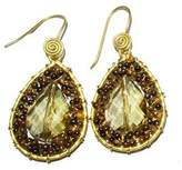 Ananda Handmade Crystal Earrings