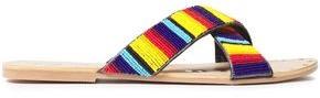 Manebi Bead-embellished Leather Slides