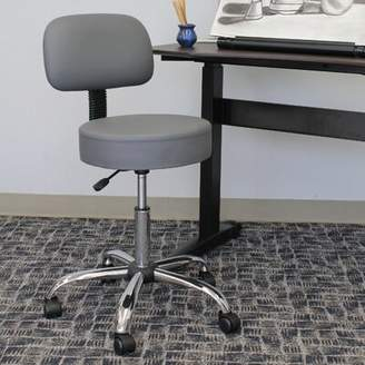 """Basile Upper Squareâ""""¢ Drafting Chair Upper Squarea Upholstery Color: Gray"""