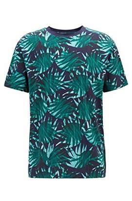 HUGO BOSS BOSS Orange Men's Short Sleeve Crewneck Printed Cotton T-Shirt
