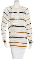 Etoile Isabel Marant Open-Knit Striped Sweater