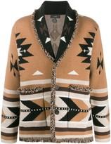 Alanui cashmere geometric knit cardigan