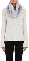 Barneys New York Women's Knitted-Mink Cowl Scarf-LIGHT GREY