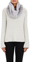 Barneys New York Women's Knitted-Mink Cowl Scarf