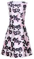 Oscar de la Renta Floral-printed silk and cotton dress