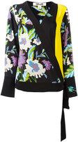 Diane von Furstenberg floral print wrap blouse - women - Silk - L