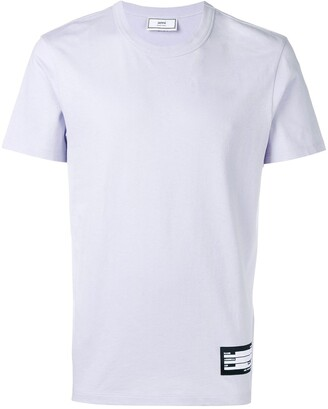 Ami Crew Neck T-Shirt With Name Label