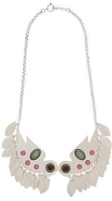 Isabel Marant Embellished Bird Pendant Necklace - Womens - Silver