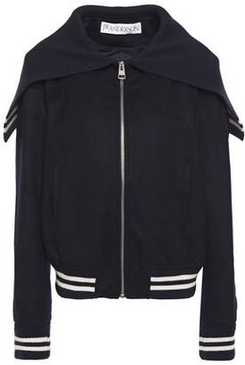 J.W.Anderson Striped Wool And Alpaca-blend Felt Bomber Jacket