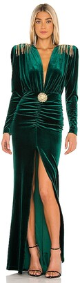 Bronx and Banco Margot V Neck Gown