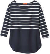 Joe Fresh Women's Stripe Tunic, JF Midnight Blue (Size S)