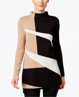 Alfani Colorblocked Mock-Neck Sweater, Only at Macy's