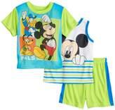 "Disney Disney's Mickey Mouse Toddler Boy ""Pals"" Tank Top, Tee & Shorts Pajama Set"