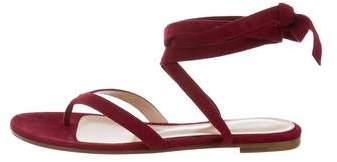 Gianvito Rossi Suede Jules Sandals w/ Tags