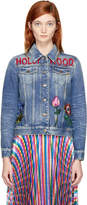 Gucci Blue Denim Hollywood Bunny Jacket