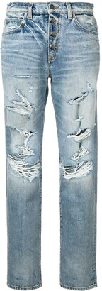 Amiri slouch distressed effect jeans