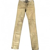 Juicy Couture Gold Cotton Trousers for Women