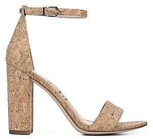 Sam Edelman Women's Botanical Garden Yaro Ankle-Strap Cork Sandals