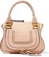 Chloé Marcie Small Textured-leather Tote - Blush