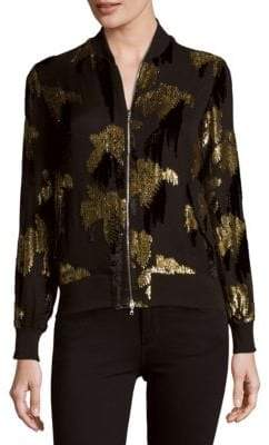 ADAM by Adam Lippes Sequined Bomber Jacket