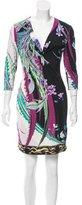 Roberto Cavalli Floral Print Mini Dress
