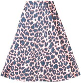 Calvin Klein leopard print full skirt