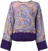Etro patterned top - women - Silk - 42