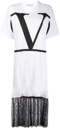 Valentino VLOGO print T-shirt dress