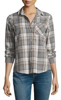 Current/Elliott The Slim Boy Shirt, Gray Oak Plaid